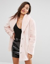 Missguided Faux Fur Coat