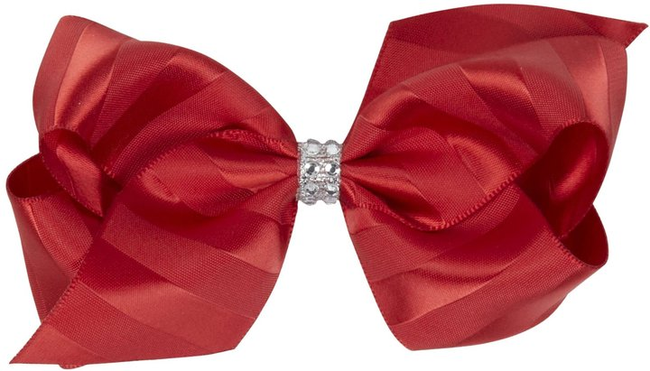 Wee Ones Satin Stripe Bow - Black-One Size