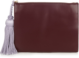 HILLIER BARTLEY Tassel leather clutch
