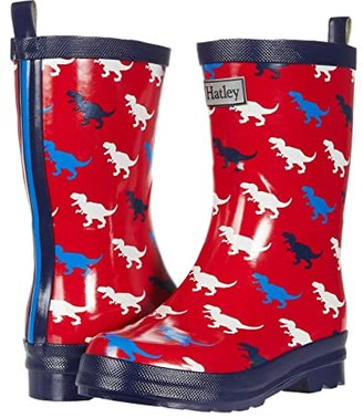 Hatley T-Rex Silhouettes Shiny Rain Boots (Toddler/Little Kid) (Red) Boys Shoes