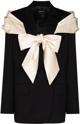 Simone Rocha Oversized-Bow Blazer Jacket