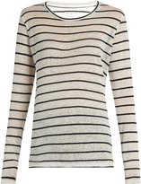 Etoile Isabel Marant Aaron long-sleeved linen and cotton-blend T-shirt