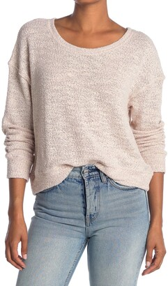 Splendid Metallic Knit Dolman Sweater