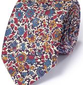 Charles Tyrwhitt Multi cotton mix printed floral Italian luxury tie