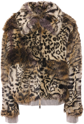 Stella McCartney Leopard-print Faux Fur Jacket