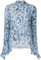 Erdem - embroidered flared midi dress