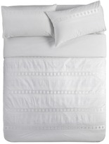 Kas White Derby Quilt Cover Set