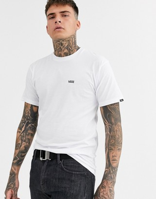 Vans t-shirt with small logo in white
