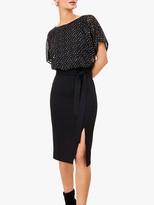 Oasis Foil Wiggle Dress, Black