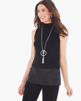 Chico's Faux-Leather Mock Tank