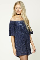 Forever 21 Off-the-Shoulder Velvet Dress