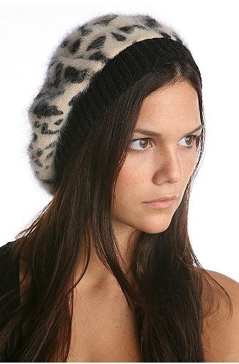 Leopard Mohair Beret
