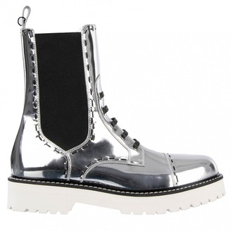 Dolce & Gabbana Silver Leather Boots