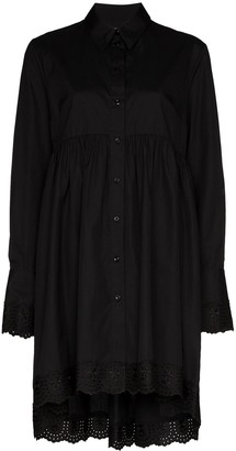 Simone Rocha embroidered shirt dress