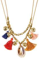 Chan Luu Layered Bell, Tassel, & Cowrie Shell Necklace