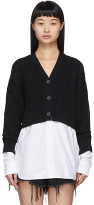 Alexander Wang Black and White Bi-Layer Cardigan
