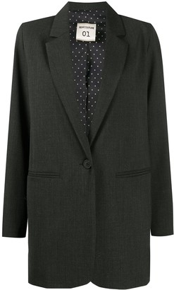 Semi-Couture Long-Sleeved Boxy Fit Blazer