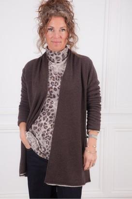 Kinross Leopard Reversible Cardigan - Medium