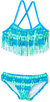 Kanu Surf Blue & Green Kayla Fringe Bikini - Toddler & Girls