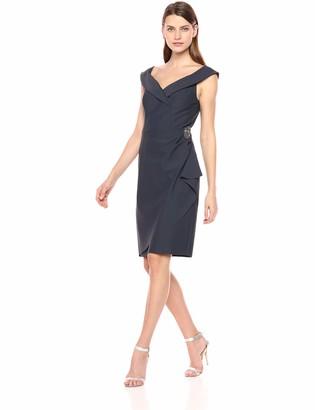 Alex Evenings Women's Short Off-The-Shoulder Sheath Dress Sweetheart Neckline