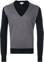 Brioni contrasting V-neck pullover