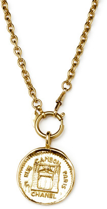 Chanel Vintage 31 Rue Cambon Graphic Medallion on Long Link Chain