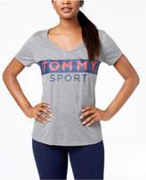 Tommy Hilfiger Logo-Print V-Neck T-Shirt, Created for Macy's