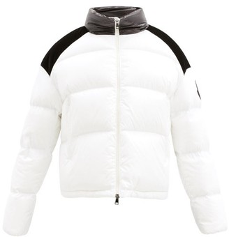 Moncler Chouelle Velvet-patch Quilted Down Jacket - Ivory