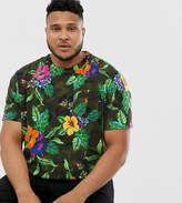 Polo Ralph Lauren Big & Tall player logo t-shirt in floral print
