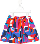 Junior Gaultier printed A-line skirt
