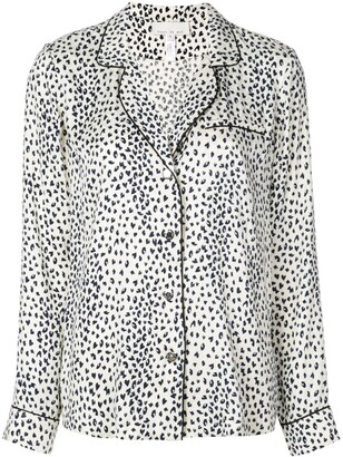 Fleur Du Mal leopard print pyjama top