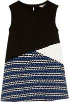 River Island Mini girls black block panel shift dress