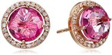 Suzanne Kalan Kalan by Pink Topaz and White Sapphire Post Earrings