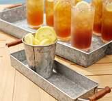 Pottery Barn Galvanized Metal Condiment & Tray Set