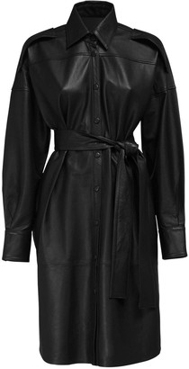 REMAIN Labare Leather Shirt Dress W/ Belt