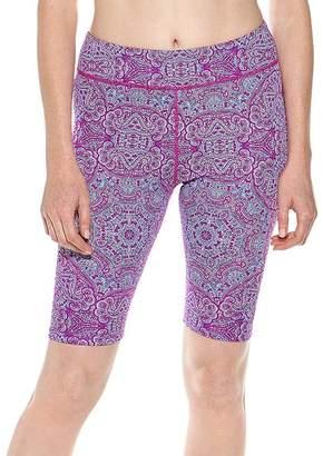 Coolibar Women's Bikini Bottoms - Violet Bold Mosaic Deep Water Swim Shorts - Women