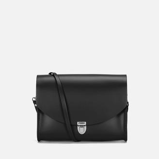 The Cambridge Satchel Company Women's Large Push Lock Cross Body Bag - Black