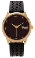 Geneva Platinum Women's Cutout Design Strap Watch