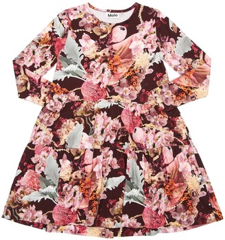 Molo Floral Print Organic Cotton Dress