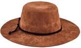San Diego Hat Company Children's Faux Suede Floppy Hat with Trim WFK4190