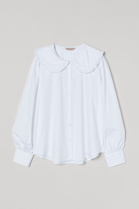 H&M H&M+ Large-collared blouse
