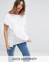 Asos T- Shirt With Ruffle And Bow Detail
