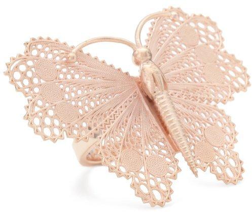 "Nola Singer ""Sky"" Rose Gold Butterfly Ring"