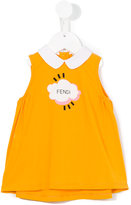 Fendi logo cloud print dress