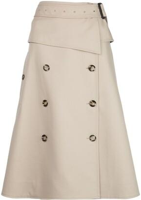 Proenza Schouler trench A-line skirt