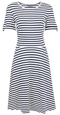 Dorothy Perkins Womens Tall White Striped T