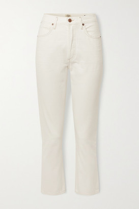Citizens of Humanity Net Sustain Charlotte Cropped High-rise Straight-leg Jeans - White