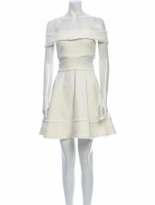 Cinq à Sept Off-The-Shoulder Mini Dress White