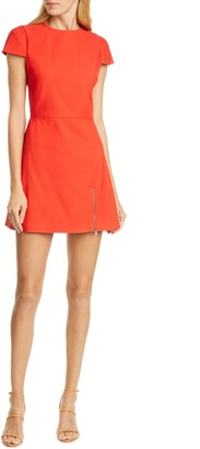 Alice + Olivia Maya Exposed Zip Mini Dress