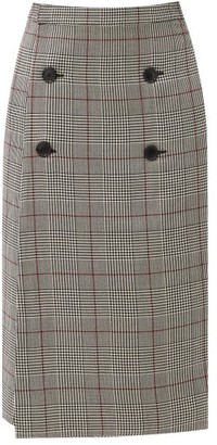 Vetements Prince-of-wales-checked Wool Skirt - Brown